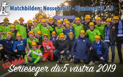 Matchbilden: Nossebro IF – Sjuntorps IF 1-3 +supporters & glädjeyra