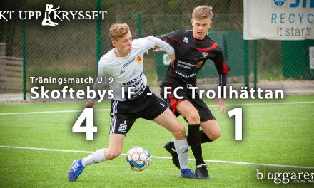 Skoftebyns IF U19 besegrade FCT U19 med 4-1 i träningskamp på stängt Nysätra IP