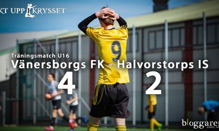 Vänersborgs U16 vände 0-2 till 4-2 hemma mot Halvorstorps IS