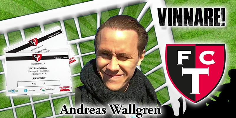 Andreas Wallgren lycklig vinnare