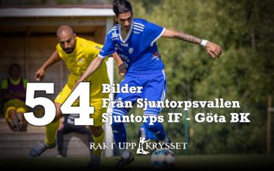 54 bilder från Sjuntorps IF – Göta BK 0-1